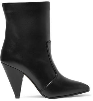 Stuart Weitzman Atomic West Leather Ankle Boots - Black