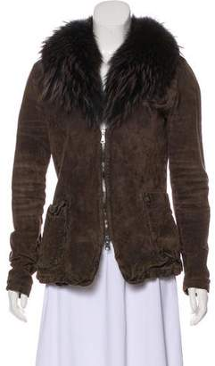 Giorgio Brato Fur-Trimmed Leather Jacket