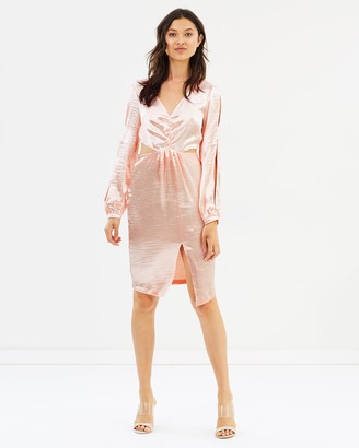 Miss Selfridge Split Sleeve Cut-Out Dress