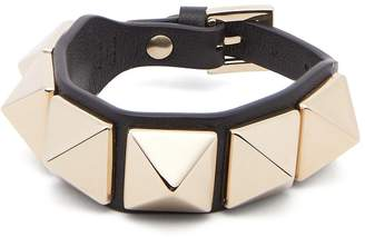 Valentino Large Rockstud leather bracelet