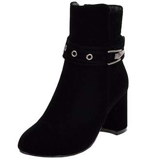 a1445866c05 High Heel Black Buckle Ankle Boots - ShopStyle Canada