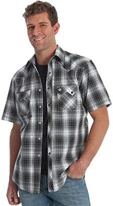Wrangler Men's Western Fashion Two Pocket Short Sleeve Snap Shirt
