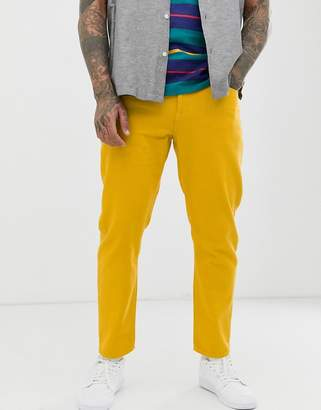 Asos Design DESIGN classic rigid jeans in yellow