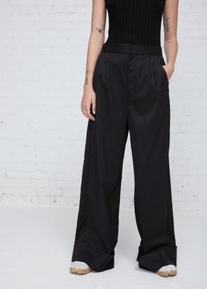 MM6 Maison Margiela black twill wool wide leg suit pant $625 thestylecure.com