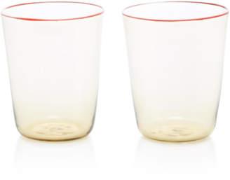Murano CABANA Set-Of-Two Fume Water Glass