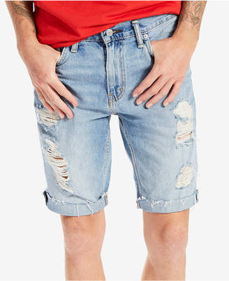 Levi's® Men's 511 Slim-Fit Cutoff Ripped Jean Shorts $50 thestylecure.com