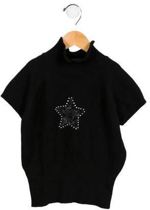 Versace Girls' Short Sleeve Sweater