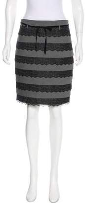 Robert Rodriguez Lace-Accented Knee-Length Skirt