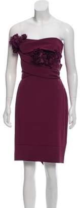 Marchesa Silk Strapless Dress Silk Strapless Dress