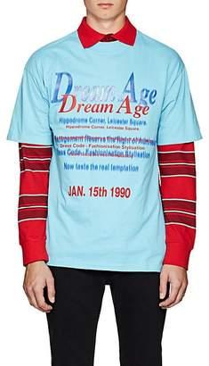 """Martine Rose Men's """"Dream Age"""" Cotton T-Shirt - Blue"""