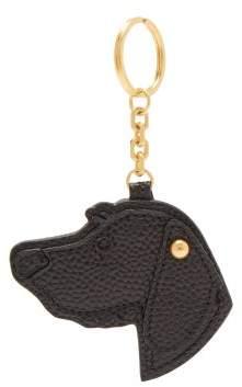 Thom Browne Hector Pebbled Leather Key Ring - Mens - Black