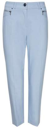 Wallis Blue Zip Pocket Cropped Trouser