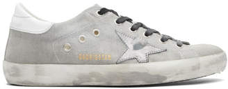 Golden Goose Grey Drill Superstar Sneakers