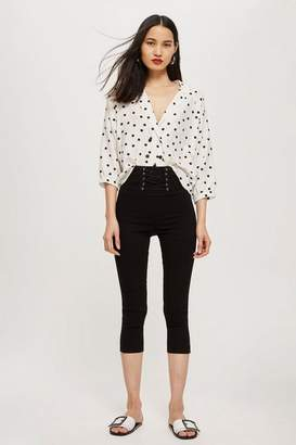 Topshop Moto corset cropped jamie jeans