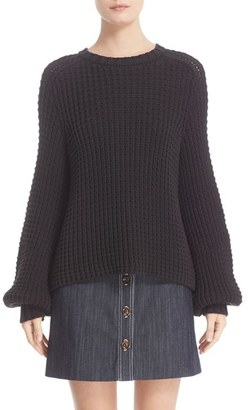 Women's Adam Lippes Cotton Blend Knit Sweater $730 thestylecure.com