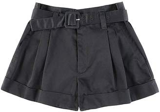 Marc Jacobs Pleated High Waist Short in Black