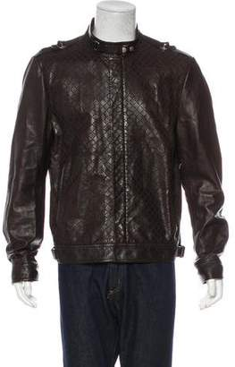 Gucci Diamante Web Leather Jacket