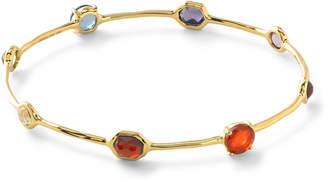 Ippolita 18k Gold Rock Candy Fall Rainbow Station Bangle Bracelet
