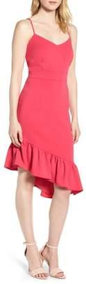 Chelsea28 Asymmetric Ruffle Hem Dress