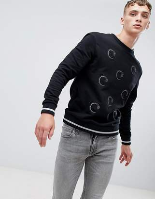 Class Roberto Cavalli sweatshirt in black with repeat snake print