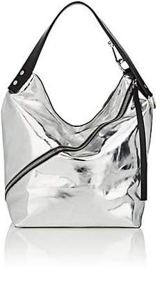 Proenza Schouler Women's Medium Leather Hobo Bag - Silver