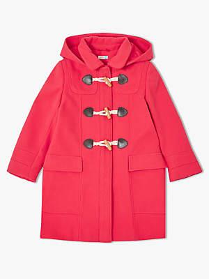 John Lewis & Partners Girls Duffle Coat, Red