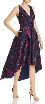 Aidan Mattox Jacquard High/Low Dress