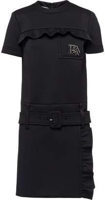 Prada Technical jersey dress with ruching