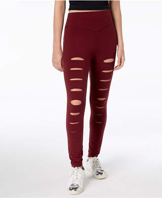 Material Girl Active Juniors' Slashed Leggings, Created for Macy's