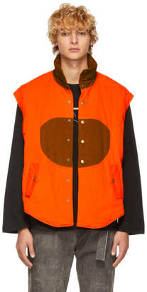 St-Henri SSENSE Exclusive Orange and Tan Corduroy Hunting Vest