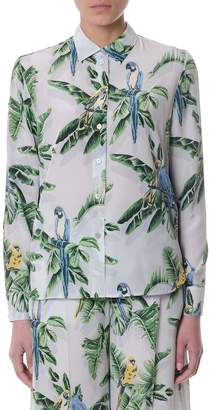 Stella McCartney Wilson Paradise Crepe De Chine Shirt