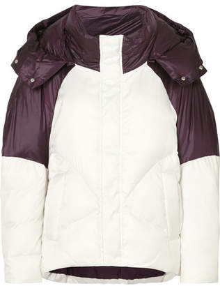 Maje Two-tone Quilted Shell Jacket - White