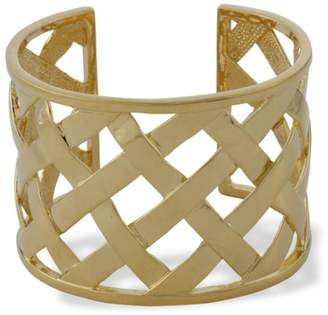 Kenneth Jay Lane Gold Basketweave Cuff