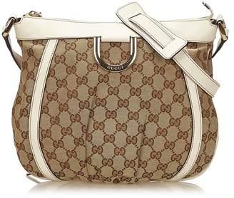 Gucci Vintage Guccissima Jacquard D-Ring Crossbody Bag