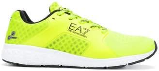 Emporio Armani Ea7 logo print mesh sneakers