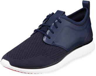 Cole Haan Men's Grand Motion Knit Sneaker, Dark Blue