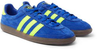 adidas Consortium Consortium - SPEZIAL Whalley Leather-Trimmed Suede Sneakers - Men - Cobalt blue