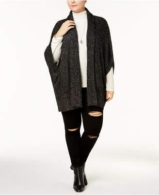Melissa McCarthy Trendy Plus Size Cocoon Cardigan