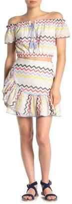 Allison New York Eyelet Ruffle Mini Skirt
