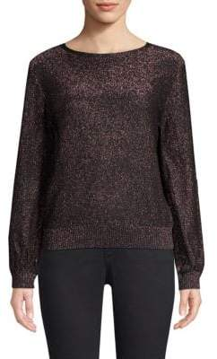 Milly Shimmer Metallic Sweater