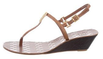 Tory Burch Tory Burch Slingback Wedge Sandals