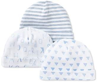 Lamaze Organic Cotton Caps, 3pk (Baby Boys)
