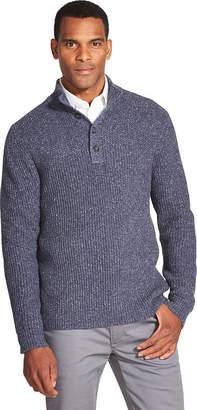Van Heusen Button Mock Neck Top Sweater