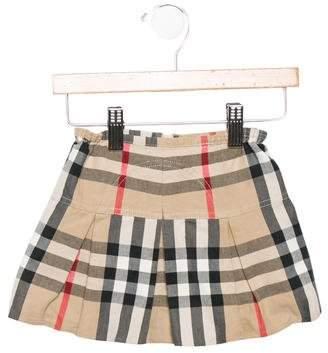 Burberry Girls' Exploded Check Pleated Skirt