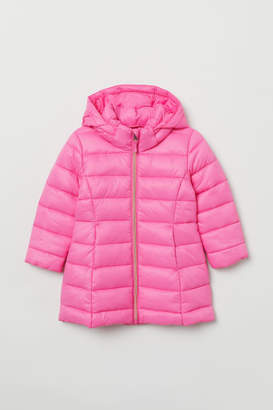 H&M Padded Hooded Jacket - Pink
