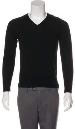 John Varvatos Wool V-Neck Sweater black Wool V-Neck Sweater