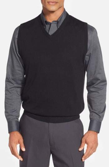 'Douglas' Merino Wool Blend V-Neck Sweater Vest