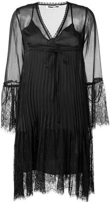McQ embroidered lace plisse dress