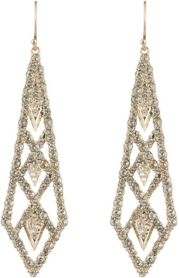 Alexis BittarCrystal Encrusted Spiked Lattice Wire Earring