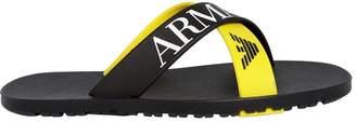 Armani Junior Crisscross Rubber Flip Flops